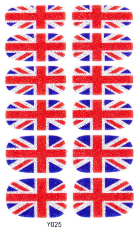 Great Britain Uk Nail Arts Sticker 14 Pcs S