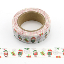 1X cute Christmas decoration Washi Tape Decorative Adhesive Tape Decora Diy Scrapbooking Sticker Label Stationery new 1x fresh floral washi tape diy decorative scrapbooking masking tape adhesive label sticker tape stationery