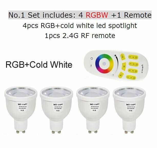 2.4G RGBW RGBWW GU10 AC85-265V przyciemniany reflektor punktowy led żarówka/2.4G bezprzewodowy grupa ściemniacz zdalnego/światło mi-light Wifi kontroler