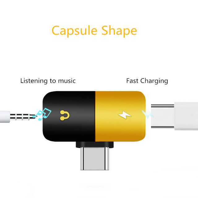 Dual Headphone 2 In 1 Audio Charger 5