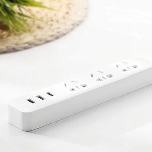 Image 2 - Originele Xiaomi Smart Home Elektronische Power Strip Socket Snel Opladen 3 Usb Met 3 Stopcontacten Standaard Plug