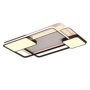 Image 4 - أضواء الثريا لغرفة المعيشة غرفة نوم مستطيل الألومنيوم ثريا تركب بالسقف أضواء Lustres الثريا الحديثة مع البعيد