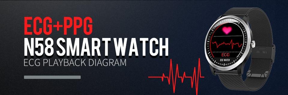 ecg heart rate monitor blood pressure smartwatch