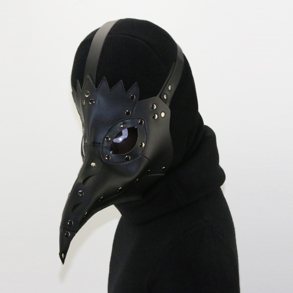 Steampunk Plague Doctor Mask Long Nose Cosplay Fancy Mask Exclusive Gothic Retro Rock Leather Halloween Masks