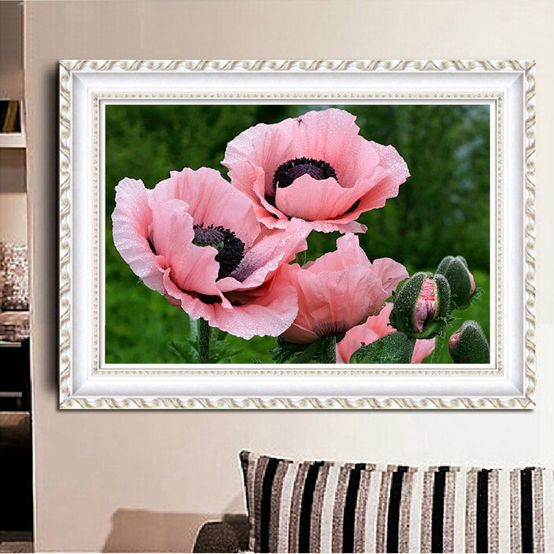 30*40CM Diamond 5D DIY Painting Girl&Rose&Pink Backpack Flower Crafts Wall Sticker Decoration Paintings