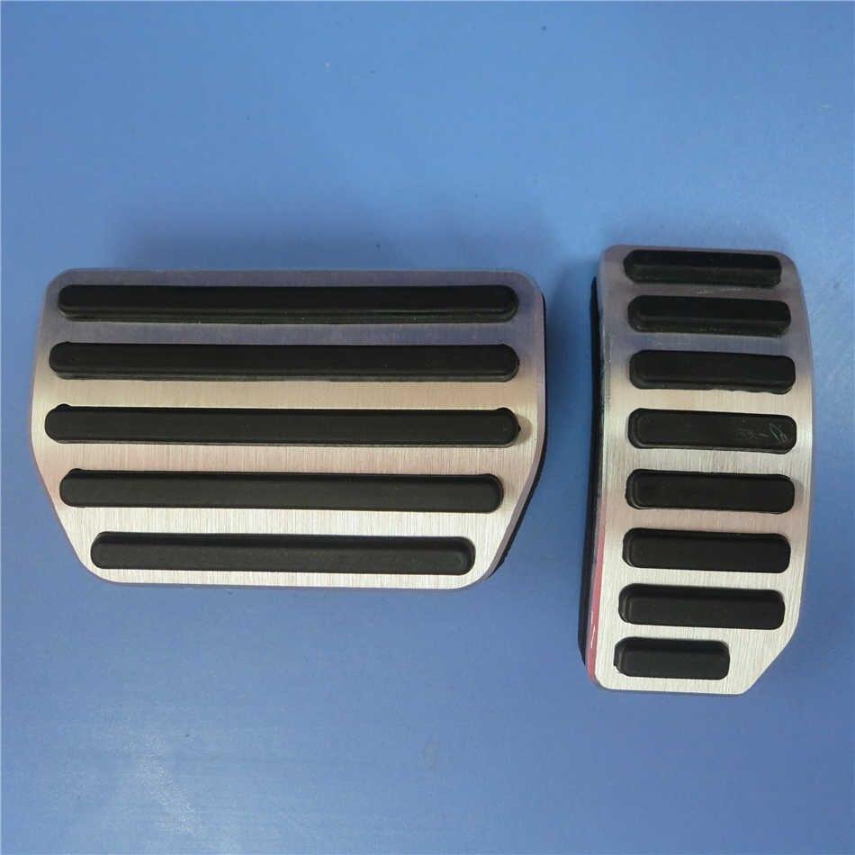 DEE автомобильные аксессуары из алюминиевого сплава педаль акселератора газа тормоза для VOLVO S60 S80L XC60 S60L V60 V70 на педали пластины колодки Чехлы - Название цвета: 2 PCS
