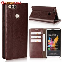 Flip Cover For Huawei Honor 7X Case Cover Coque Leather Wallet For Huawei Honor 7X Cases