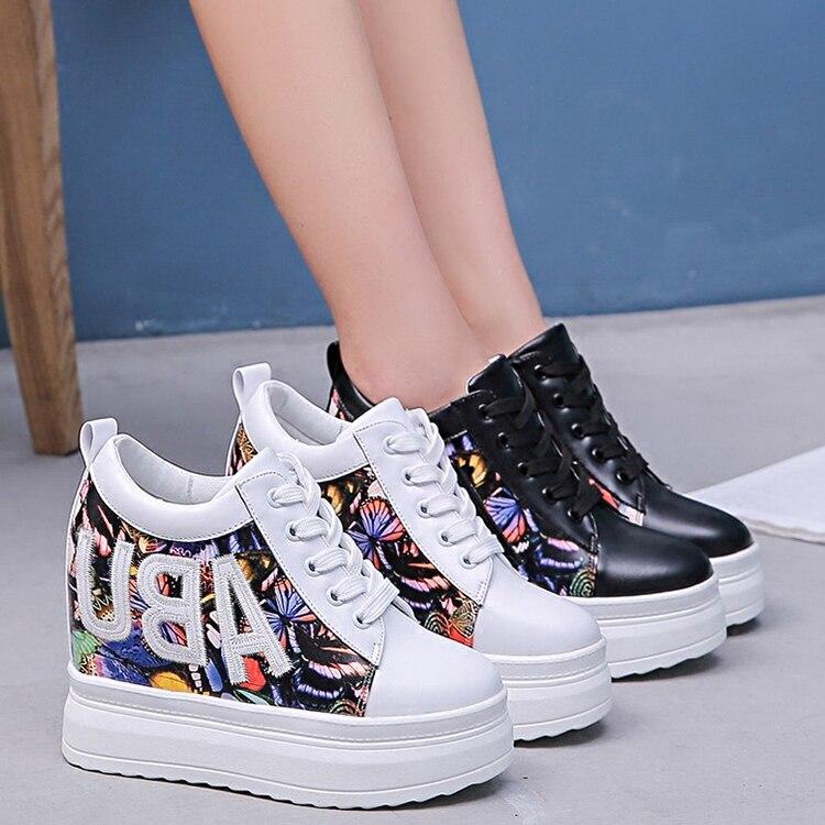 De Simples blanc Avec Chaussures Modèle Noir Femmes Automne Fond Muffin Occasionnels Augmenté Nouveau Papillon YEwppq