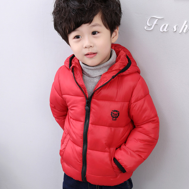 Winter Boys Outerwear Solid Cotton Girl Coat Baby Snowsuit Infant Overcoat Children Winter-Clothing Kids Jacket Boys Parka