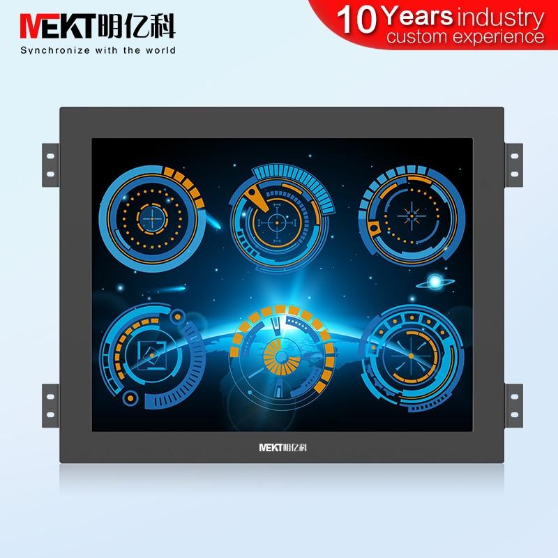 Écran tactile capacitif multipoint étanche IP65/10.4/12.1/19/17/15 pouces/écran LCD USB VGA DVI HDMI