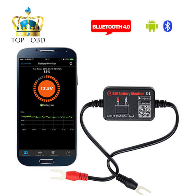 12v Bluetooth 4 0 Car Battery Monitor Teste Diagnostic Tool For Android Ios Iphone Digital Yzer Measurement Units