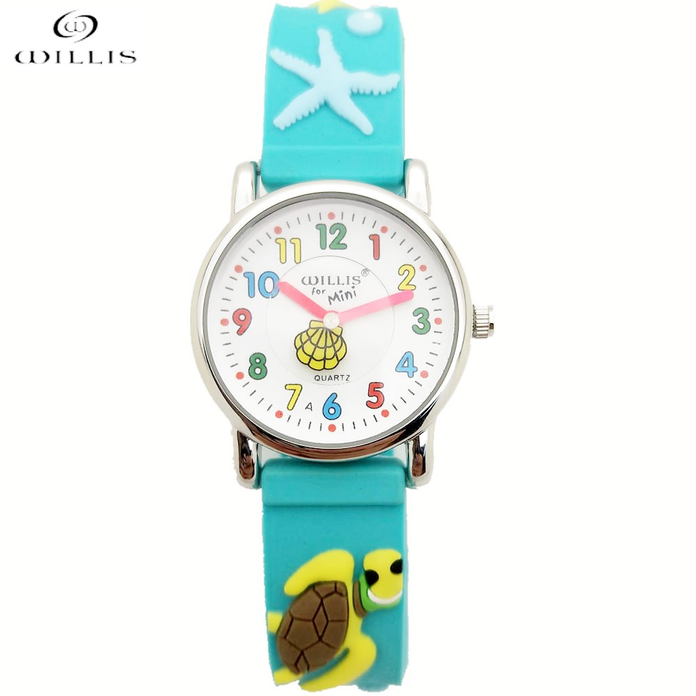 WILLIS Brand Cool Fashion Student Children Kids Toddler Boy Watches Age 5-10Time Teacher 3D Basketball Silicone Band Child Clock