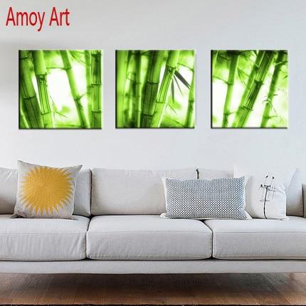 3 Piece bamboo Canvas wall art Decor Modern canvas Paintings Prints ...