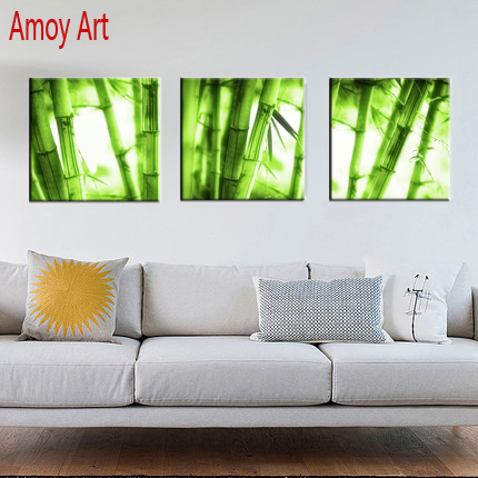 3 Piece bamboo Canvas wall art Decor Modern canvas Paintings Prints pictures For Living Room Bedroom Wall Art No Frame