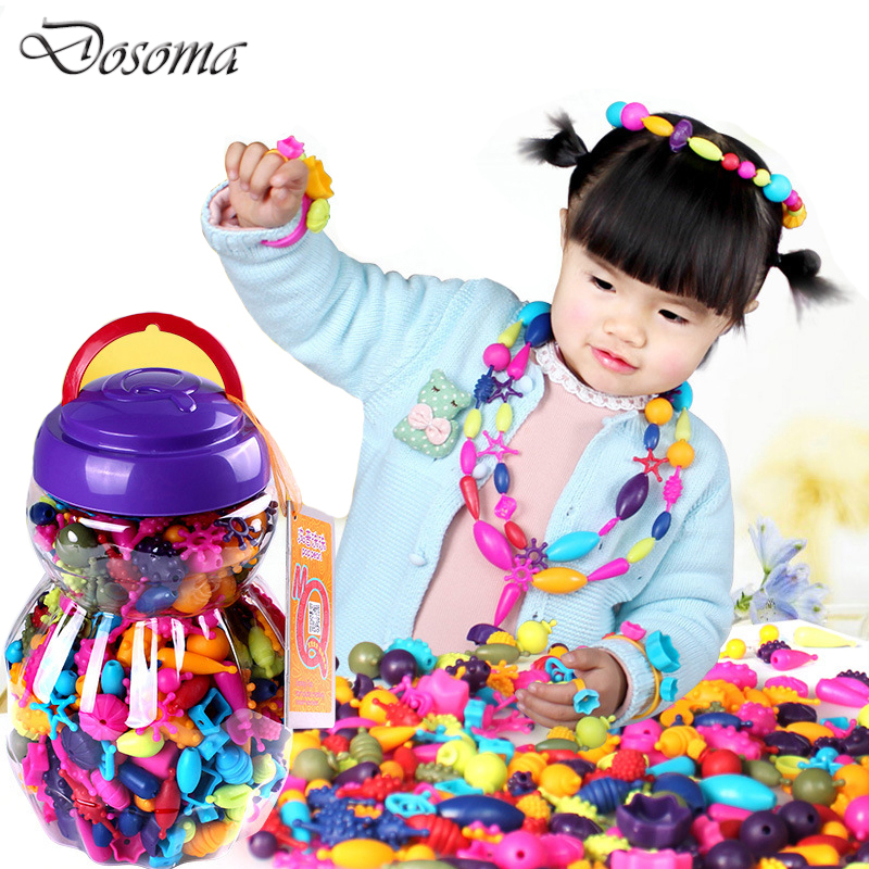 Variety DIY Handmade Beaded Children's Toys Puzzle Fight Inserted Baby Girl Wearing Beads Bracelet Necklace DIY Educational Toys lei wang bioethanol from waste papers