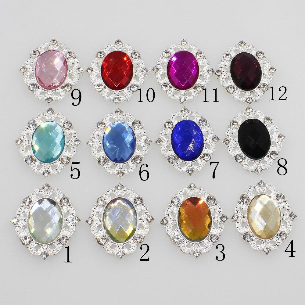 Fashion 10pc Clear Glass Crystal Rhinestone Button Wedding