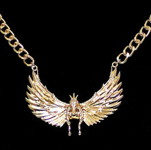 Exaggerated personality jewelry angel flying horse collar hip-hop rihanna necklace