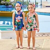Sexy Bikini Crianças Maiô Meninas de Natação Ternos 2018 Novas Crianças Design Bonito Impressão Swimwear Maiô Maillot De Bain