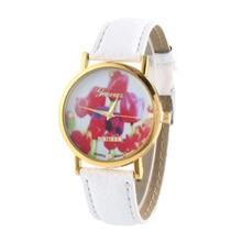 Leather-based Band Vogue Retro Girls's Analog Quartz Leisure Wrist Watches Xmas Present Color:White
