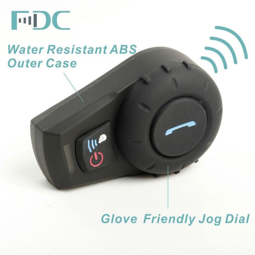 2PCS Freedconn FDC-01VB Bluetooth Motorcykel Interphone med FM Fuld - Motorcykel tilbehør og dele - Foto 2