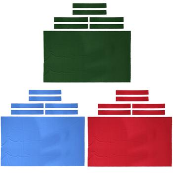 Profesjonalny stół bilardowy 9 ft filc + 6 filcowych pasków bilard Snooker filc na stół 9 stóp 0 6mm akcesoria bilardowe tanie i dobre opinie MagiDeal other Table Cloth Pręt przetarcie szmatką