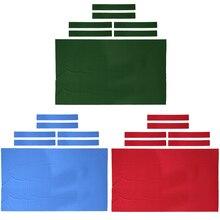 Profesjonalny stół bilardowy 9 ft filc + 6 filcowych pasków bilard Snooker filc na stół 9 stóp 0.6mm akcesoria bilardowe
