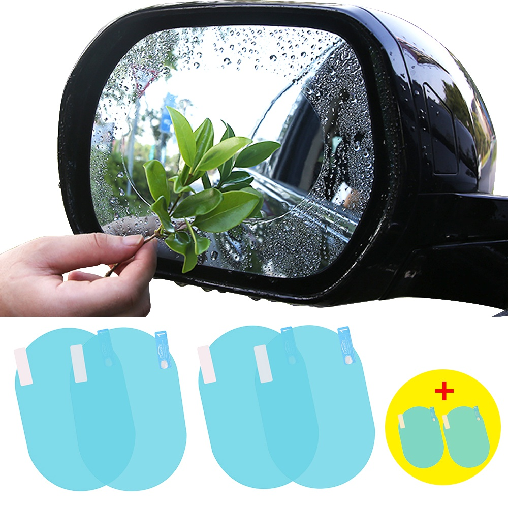 6PCS Car Rearview Mirror Film Anti Fog Window Clear Rainproof Rear View Mirror Protective Soft Protective Film Auto Window Foils