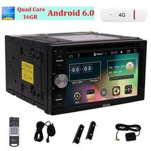 Eincar Quad Core Android6.0 Mahsmallow Estéreo En El Tablero de Doble Din Coche Reproductor de DVD de Navegación GPS con Autoradio Bluetooth