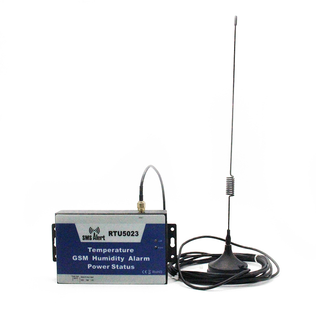 GSM Antenna Temperature and Humidity Environment  Alarm SMS for Hospital Storage Greenhouse Power Monitor with 1m Sensor