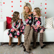 Mother and daughter Dress Floral Matching Mom Girls Family Clothes