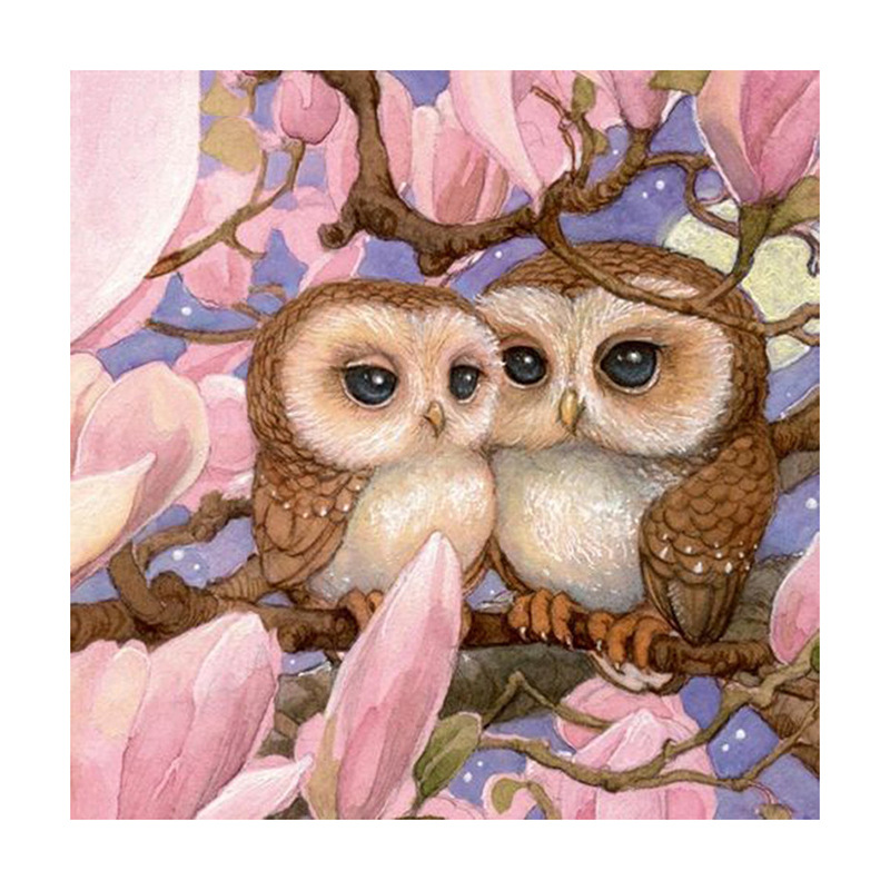 5D DIY Diamond Painting Owl Lover Full Square Diamond Of Rhinestones Embroidery Animals Cross Stitch Wall Sticker Home Decor-0