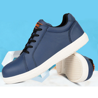 Leather Men Steel Toe Worh Safety Shoes Pucture Proof Work Boots Breathable Light Protective Skate Shoes