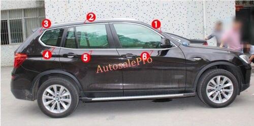 12 шт. Сталь топ + внизу окна Рамки sillcover для BMW X3 F25 2011 2012 2013 2014