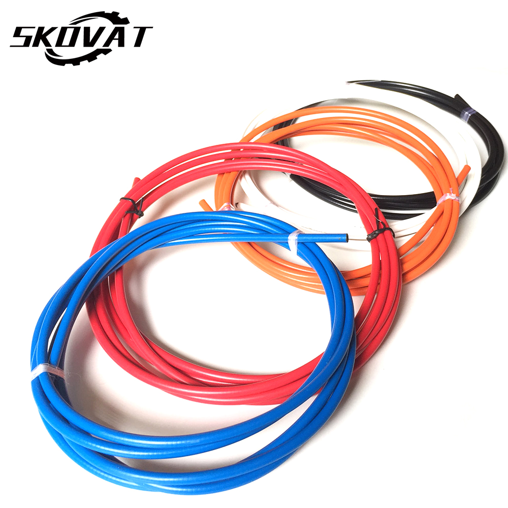 цена на New Bicycle Brake Cable housing Mountain Bike Brake Cable Set Bike Hose Cycling Disc Brake Line Pipe 5mm*2.5m Bicycle Parts