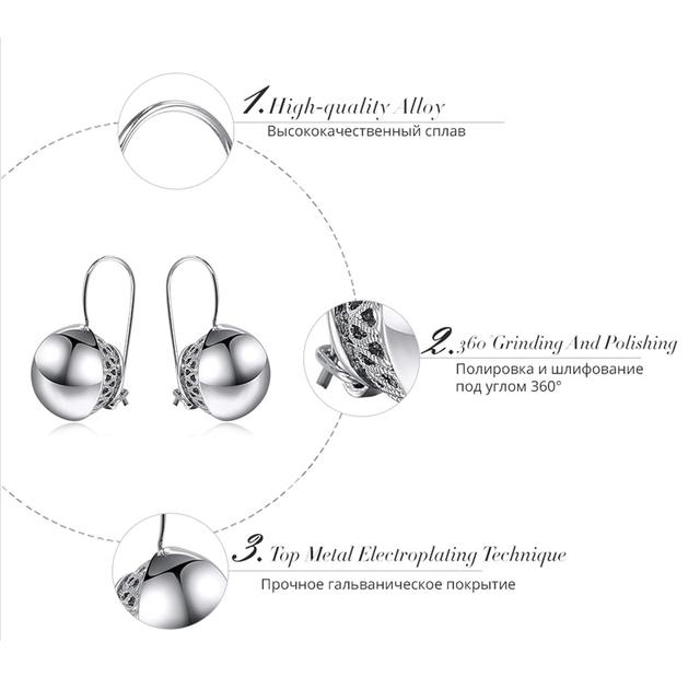Double Round Ball Drop Dangle Earrings
