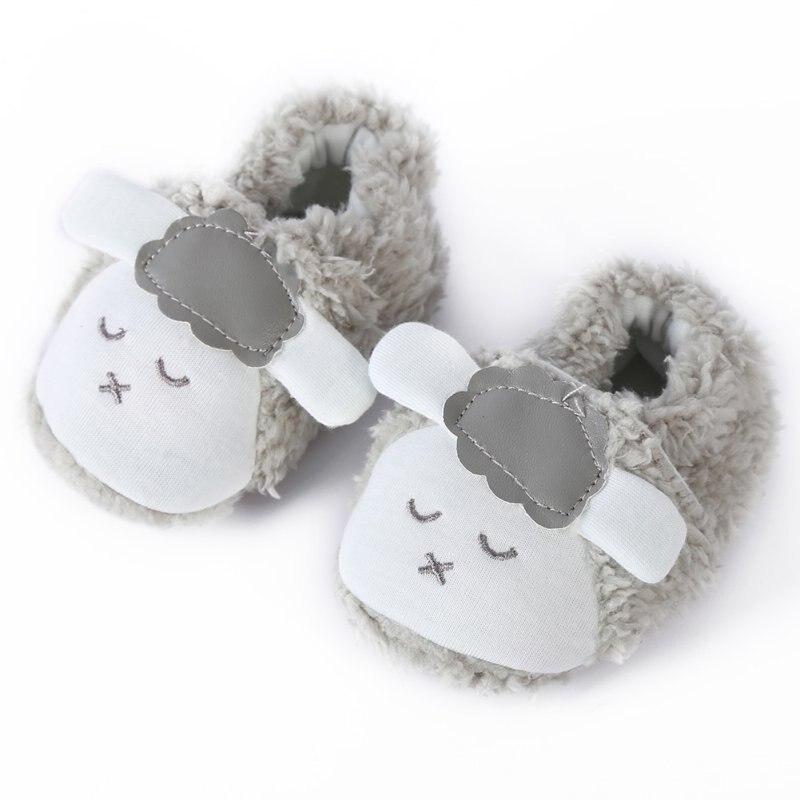 Super Cute Baby Girls Shoes Kids Children Winter Warm Plush Booties Infant Soft Slipper Crib First Walkers