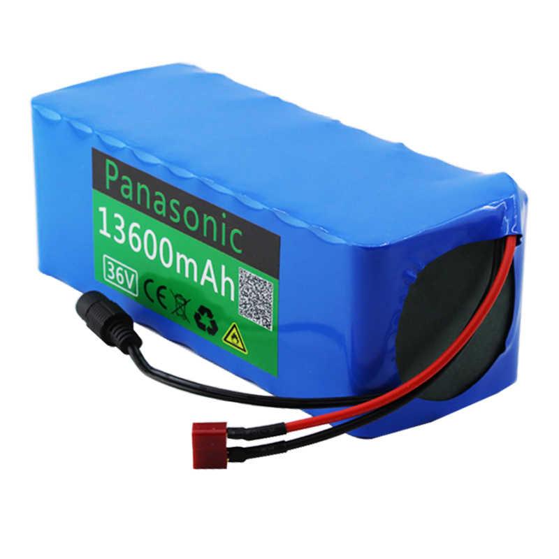 Batería Panasonic 36V 10S4P 13.6Ah batería 500W batería de alta potencia 42V 13600mAh Ebike bicicleta eléctrica BMS + cargador 42v