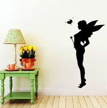 Fairy Wall Decals Girls Room Stickers Home Bedroom Decoration Removable Girl Mural Nursery Vinyl Sticker AY708