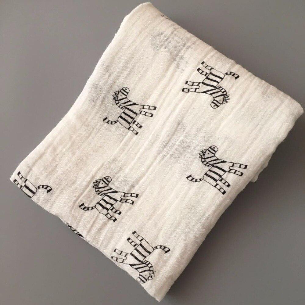 Купить с кэшбэком Baby Towel 120x120cm 2 Layers Organic Cotton gauze Material Children Towels Soft Cartoon Towel Baby Bath Towel For Newborns