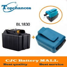 High Quality 18V 4500mAh Replacement Li-ion Power Tool Battery for Makita  BL1830 BL1840 +USB Charger Adapter