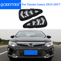 QCBXYYXH Led Daytime Running Lamp For Toyota Camry 2015 2017 Turn Signal DRL Car Styling Light