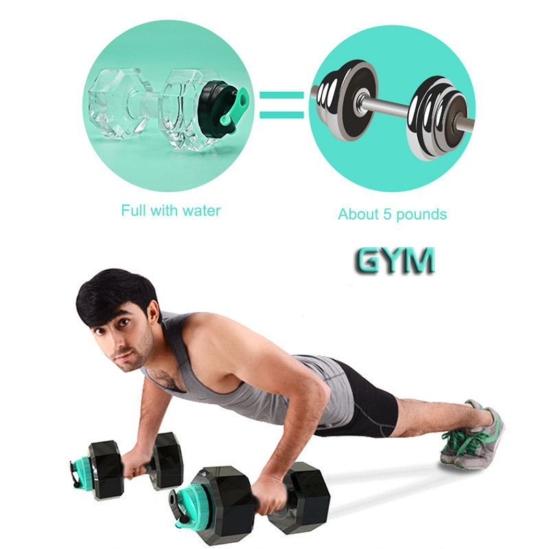 Transhome-2-2L-Large-Capacity-Dumbbells-Water-Bottle-For-Gym-Fitness-Sports-Outdoor-Leak-proof-Plastic