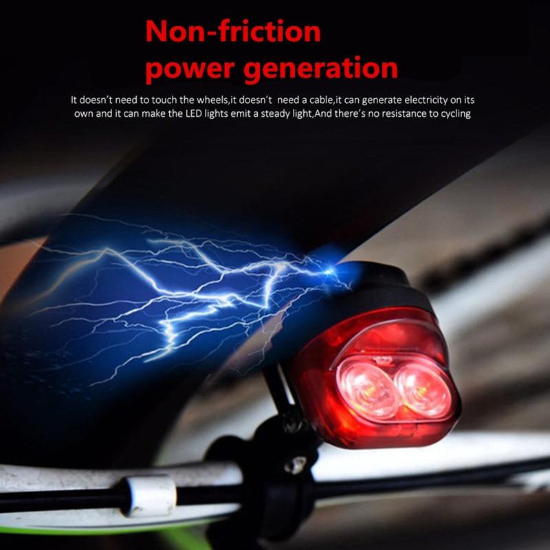 Ftw Прокат велосипедов свет заднего света без трения Мощность поколения горный велосипед Велосипеды задние огни светильник светодиодный фо…
