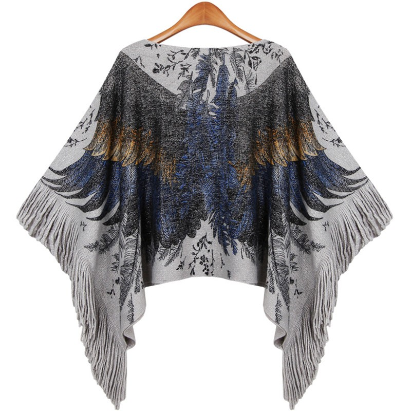 Rock Eagle Fringed Poncho | Ponchos and Capes | Up to 60% Off Now