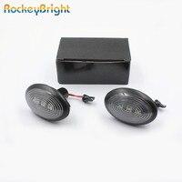 Rockeybright Янтарь 12 В Боковой габаритный фонарь светодиодный светильник для BMW Mini Cooper R56 R55 r57 R58 R59 автомобиль крыло сигнала светлая сторона марке...