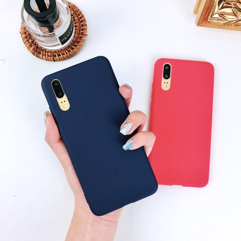 Candy Colors Silicone Case For Huawei P9 P10 P20 Lite P20 Pro P8 Lite Honor 8 Lite Mate 10 Lite 9 Pro RS Nova 2 2S 3I 3E