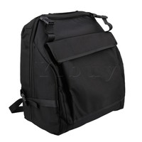 Yibuy 48x52cm 1200D Oxford Cloth Thickened Black Accordion Case Bag For 120 Accordion Bass