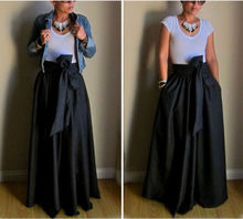 82d64e095695e Buy flare maxi skirt and get free shipping on AliExpress.com