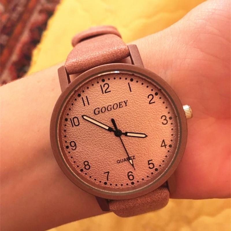 Женские часы модные кожаные Наручные часы женские брендовые часы Gogoey Saati Bayan Kol Mujer Relojes Montre feminino|Женские часы|   | АлиЭкспресс