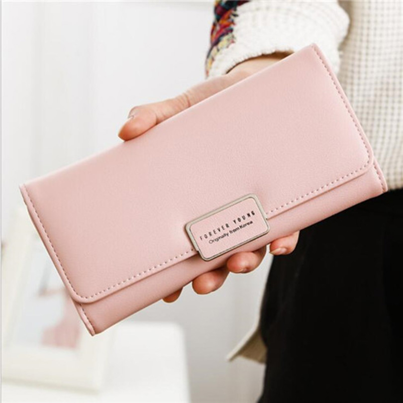 Wallets Women's Purse Long PU Leather Female Clutch Wallet Large Capacity Hasp Ladies Purse With Phone Pocket Card Holder Wallet fashion flamingo floral print women long wallet large capacity clutch purse phone bag pu leather ladies card holder wallets
